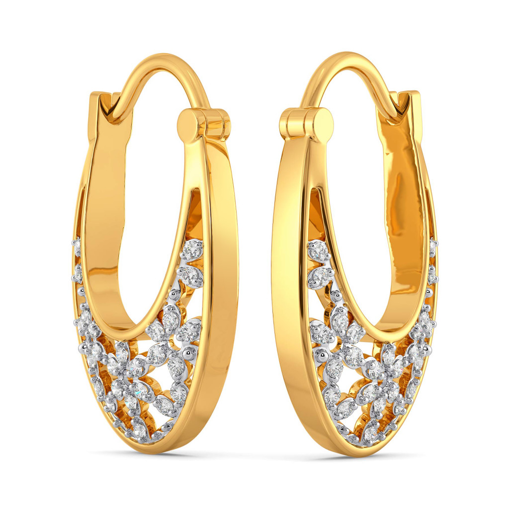 Swerve A Lace Diamond Earrings
