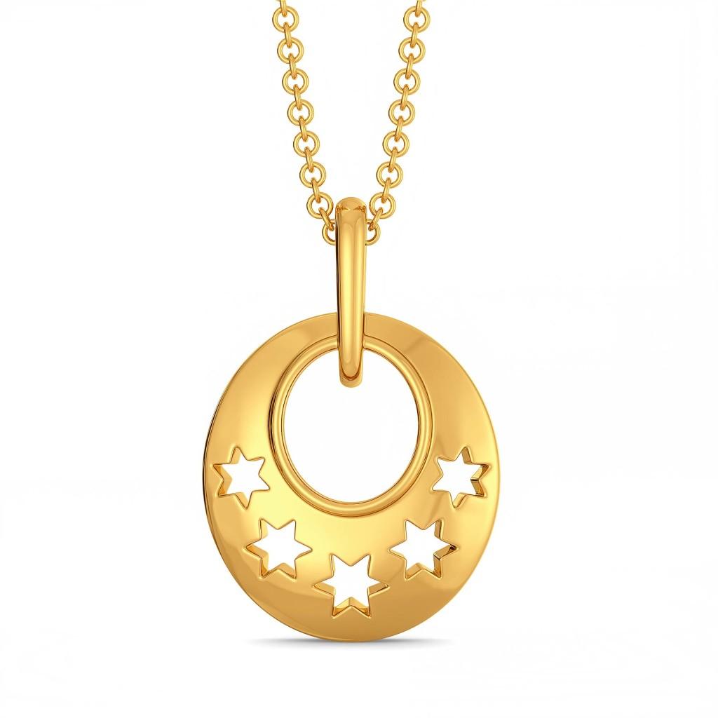 Star Streaks Gold Pendants