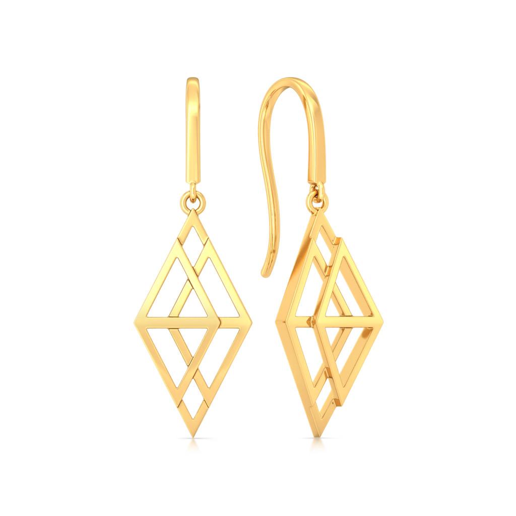 Quad Lace Gold Earrings