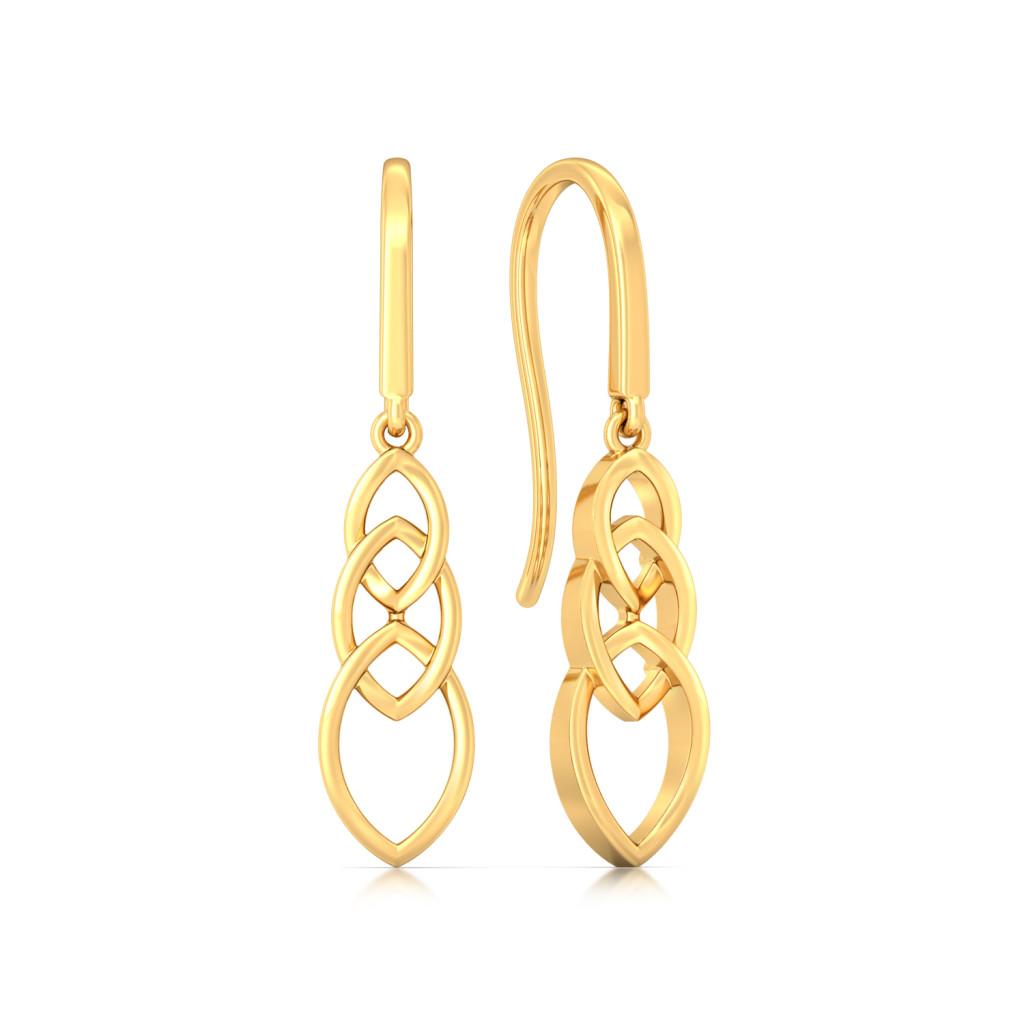 Lens Sense Gold Earrings