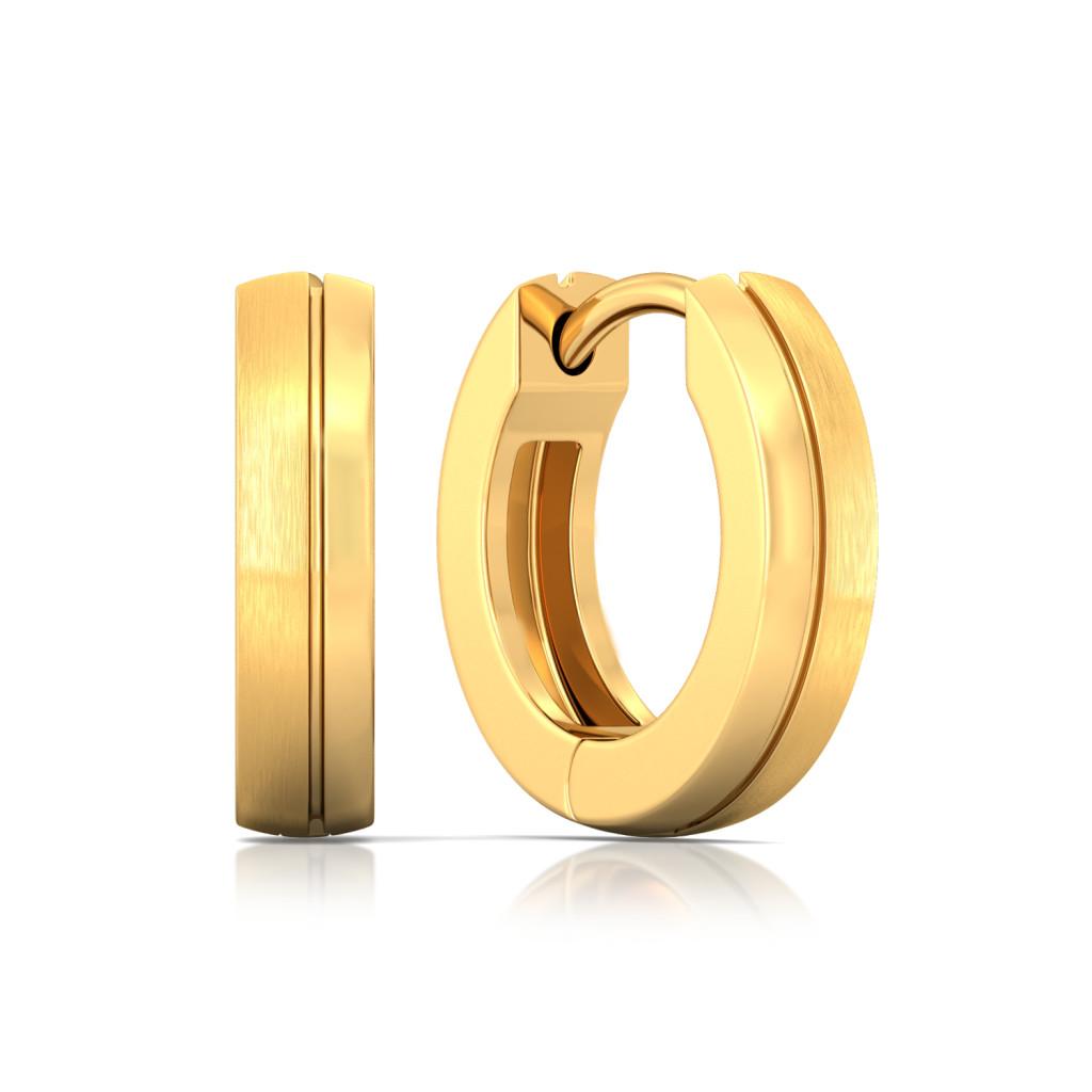 Halo Orbit Gold Earrings