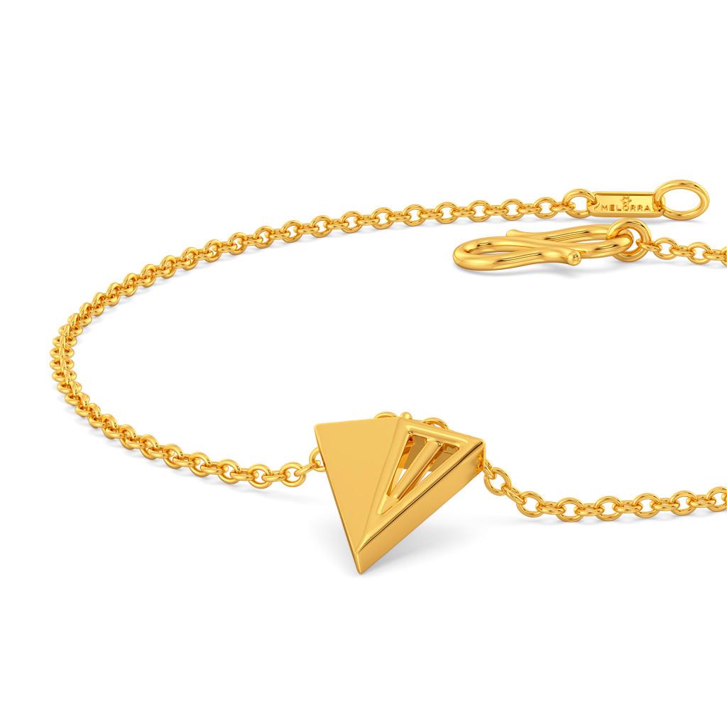 Prism Break Gold Bracelets