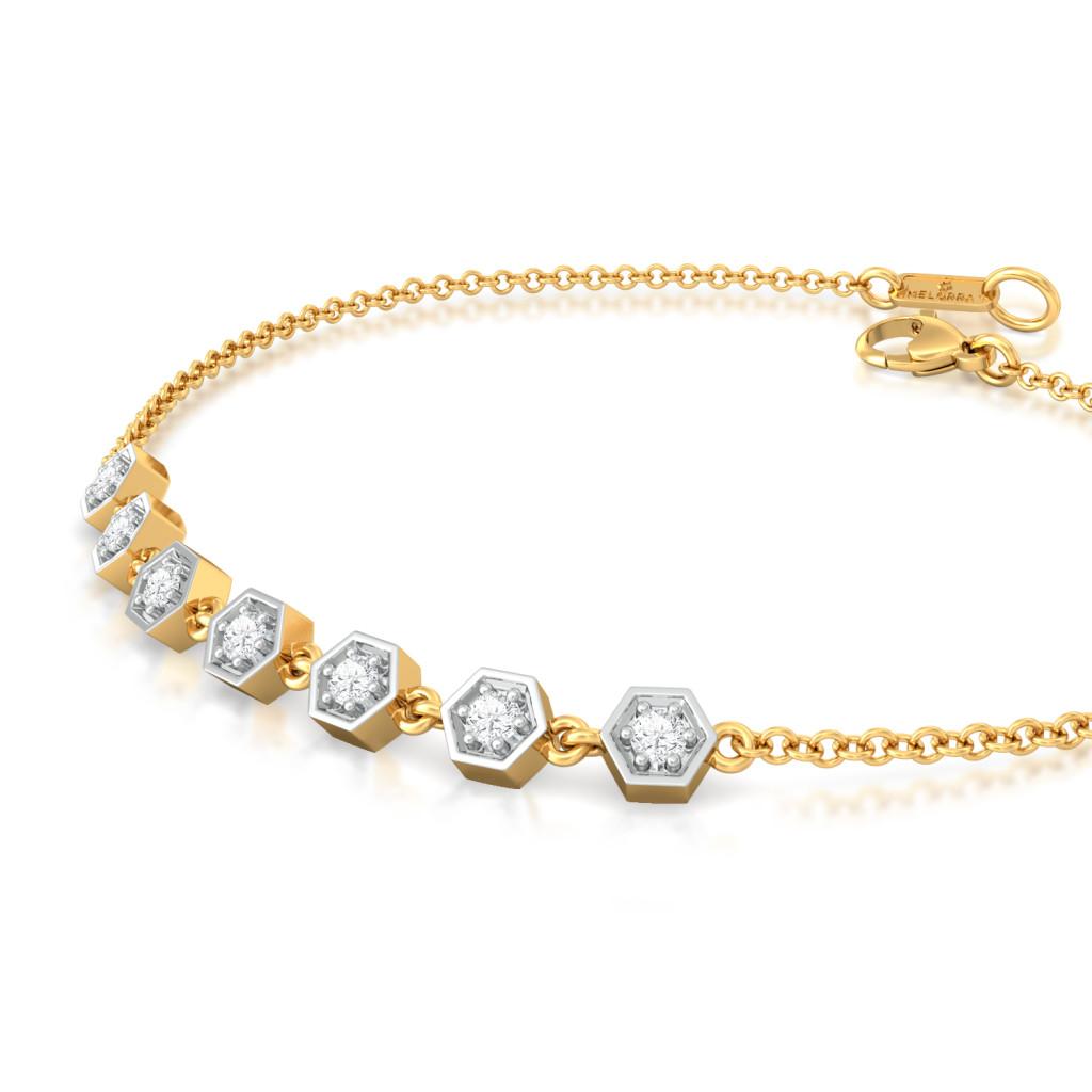 Dots and Diamonds Diamond Bracelets