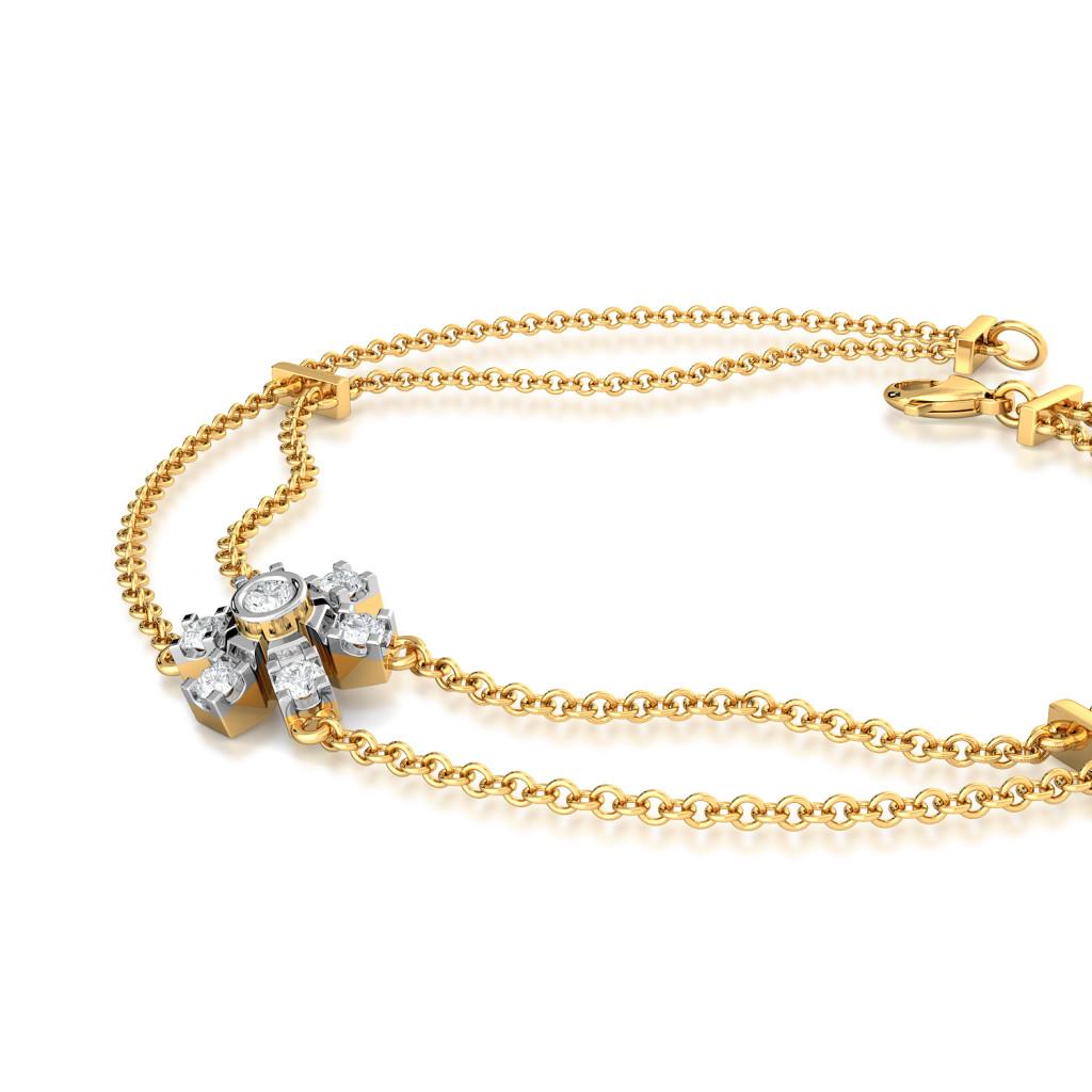 Pin Wheeling Diamond Bracelets