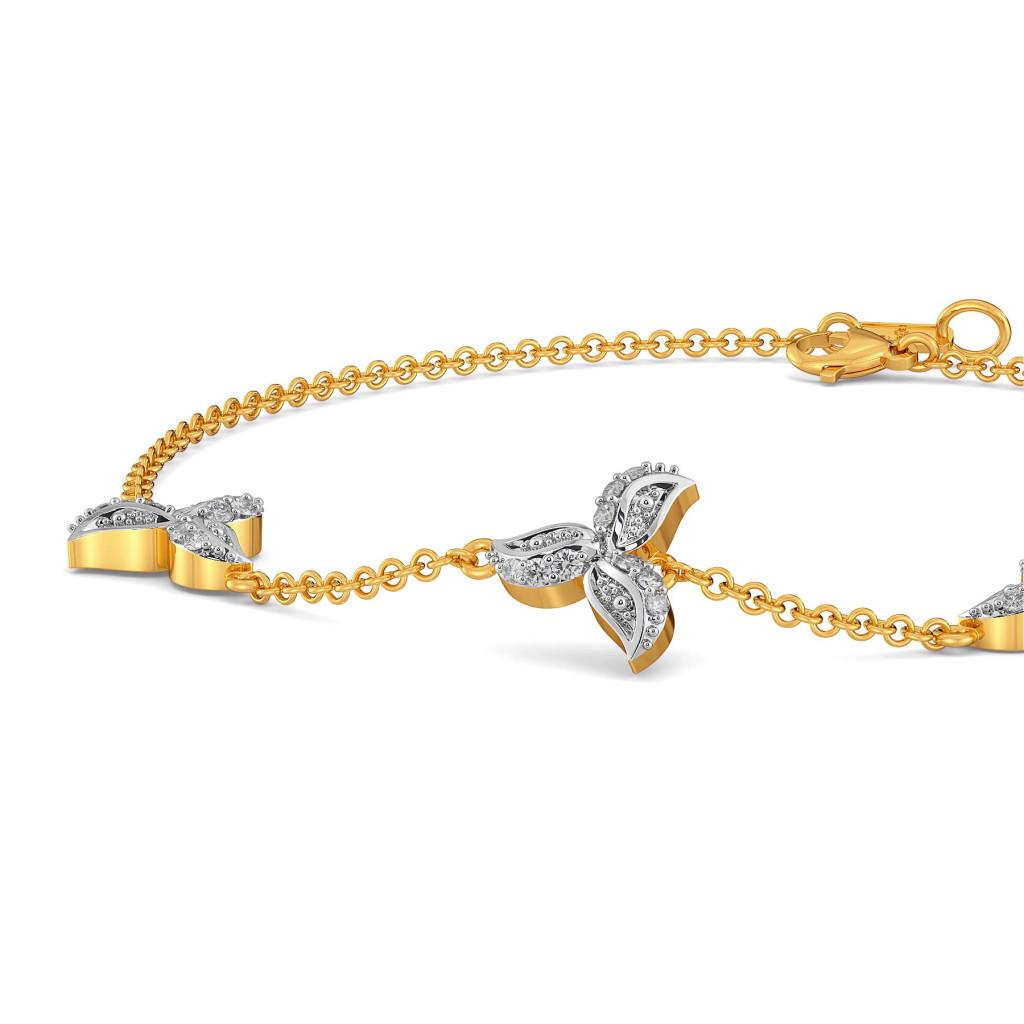Paisley La Flor Diamond Bracelets