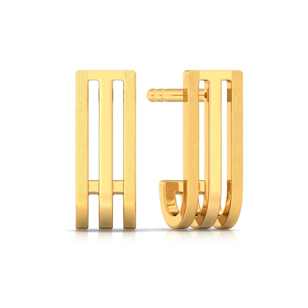 Timeless beauty Gold Earrings
