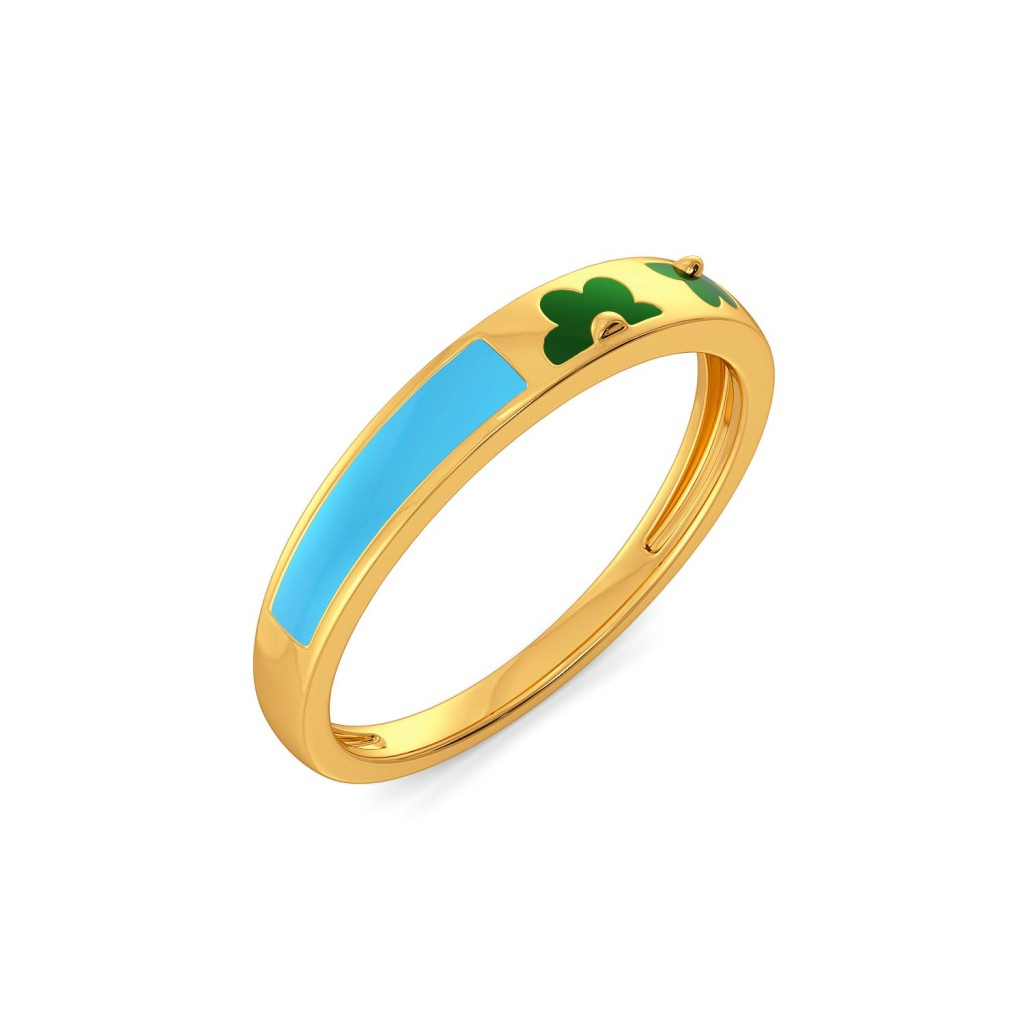 The Cyan Clan Gold Rings