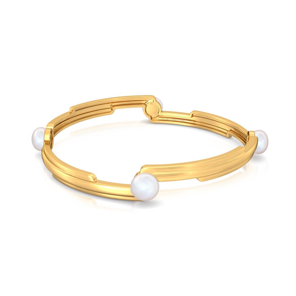 Pearl-fection Gemstone Bangles