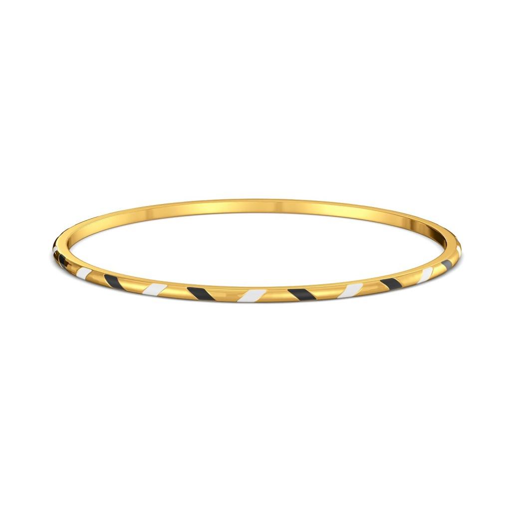 Zig n Zag Gold Bangles