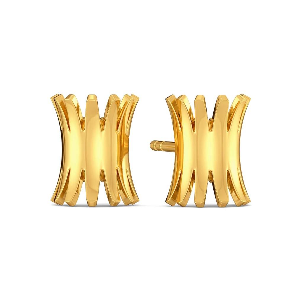 Bridge Ridge Gold Earrings
