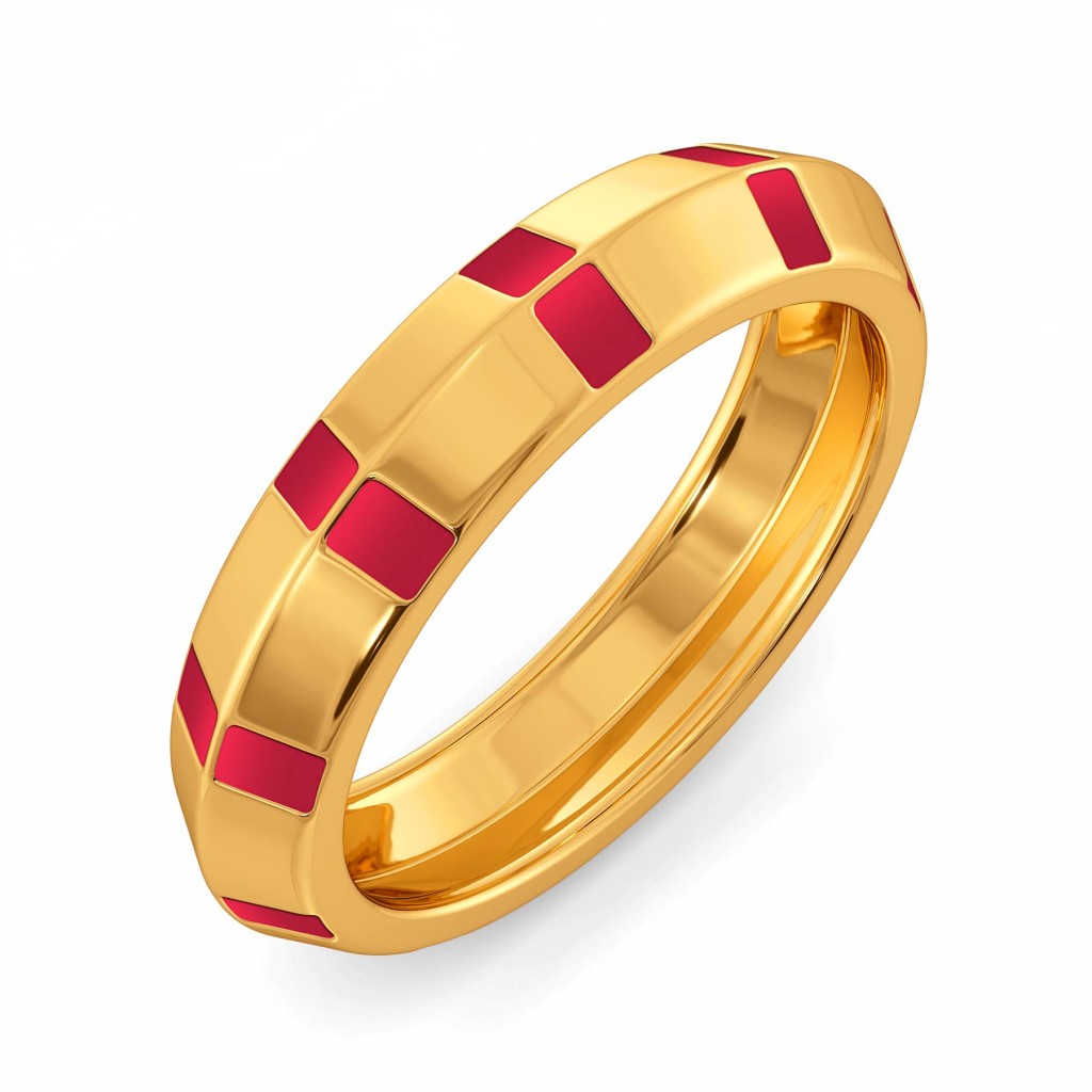 Maroon Major Gold Rings