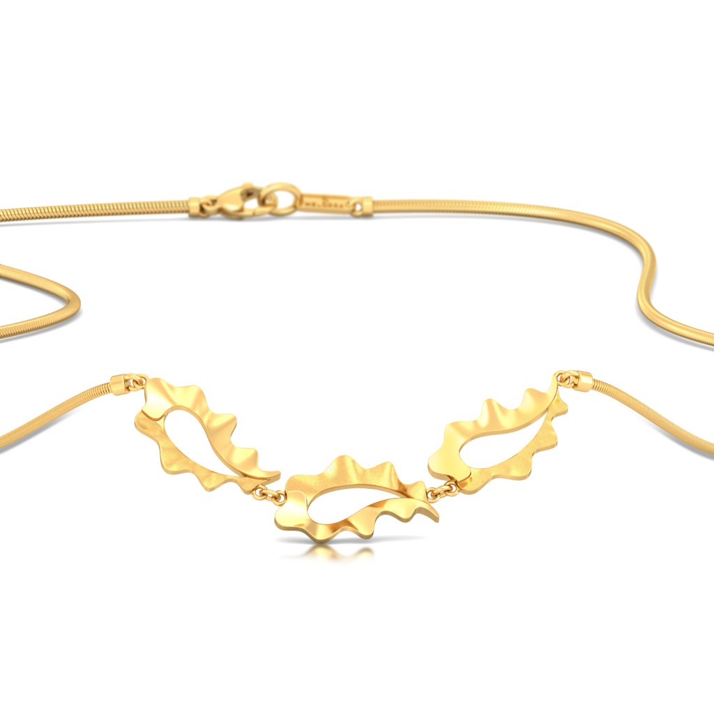 Ripplin' Paisley Gold Necklaces