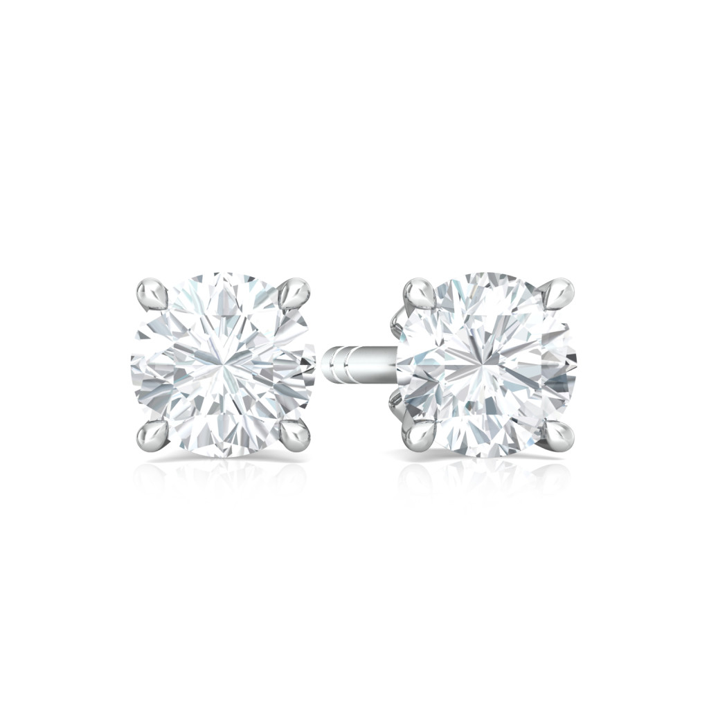Sassy Solitaire Diamond Earrings