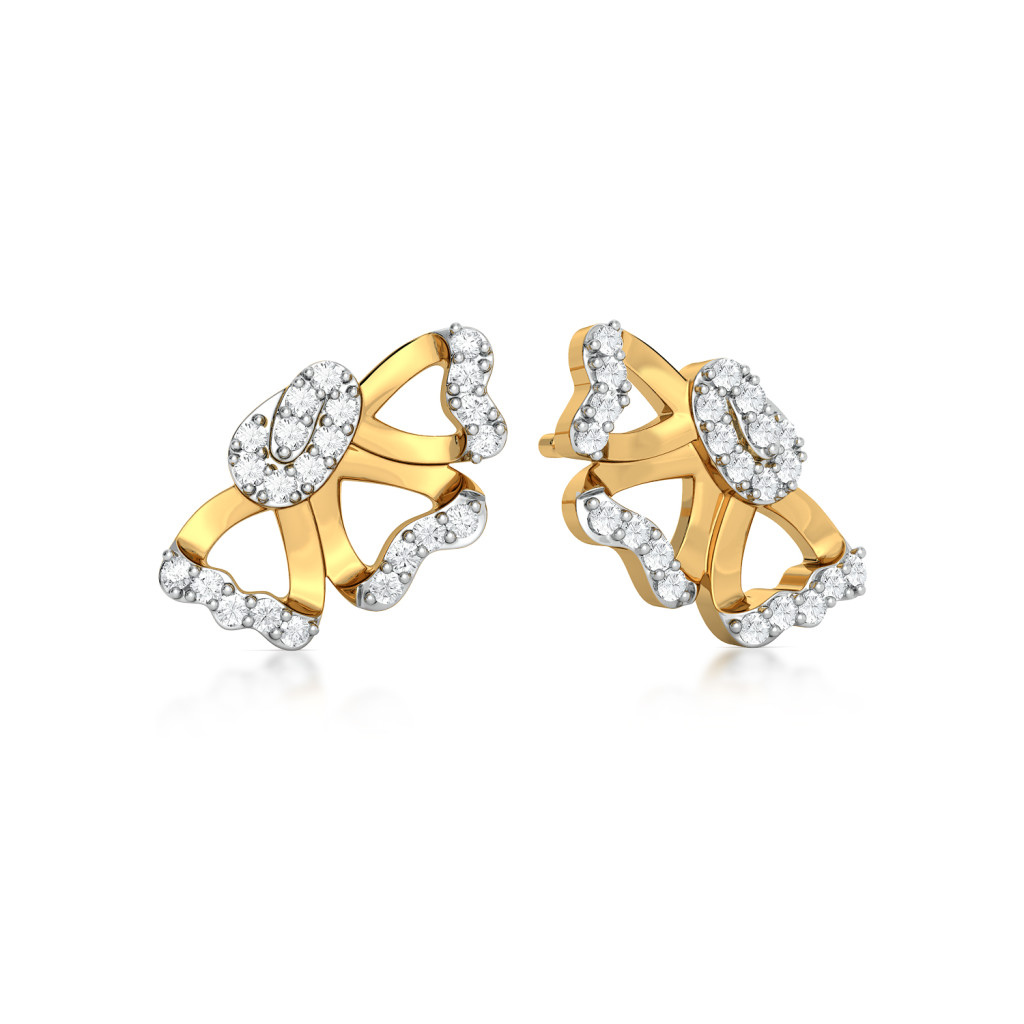 Curl Furl Diamond Earrings