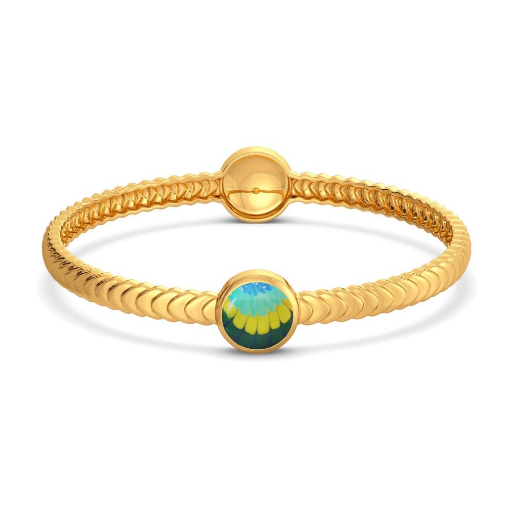 Tie & Dye Twist Gold Bangles