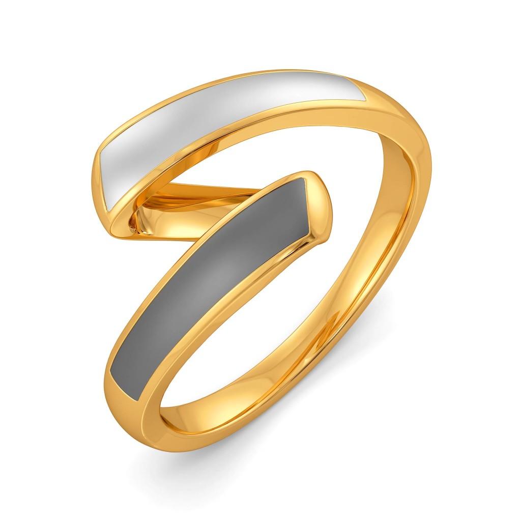 Slay In Grey Gold Rings