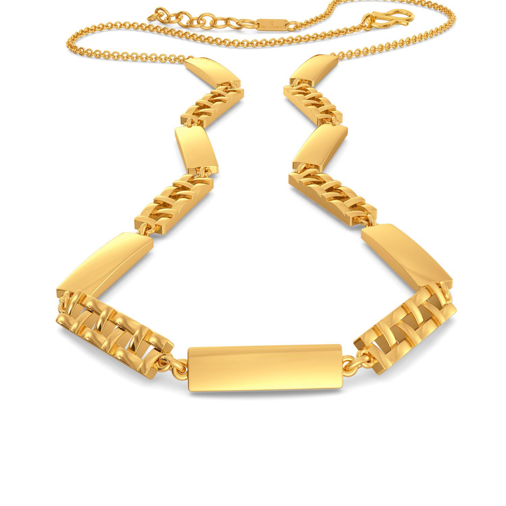 The Plaid Play Gold Necklaces