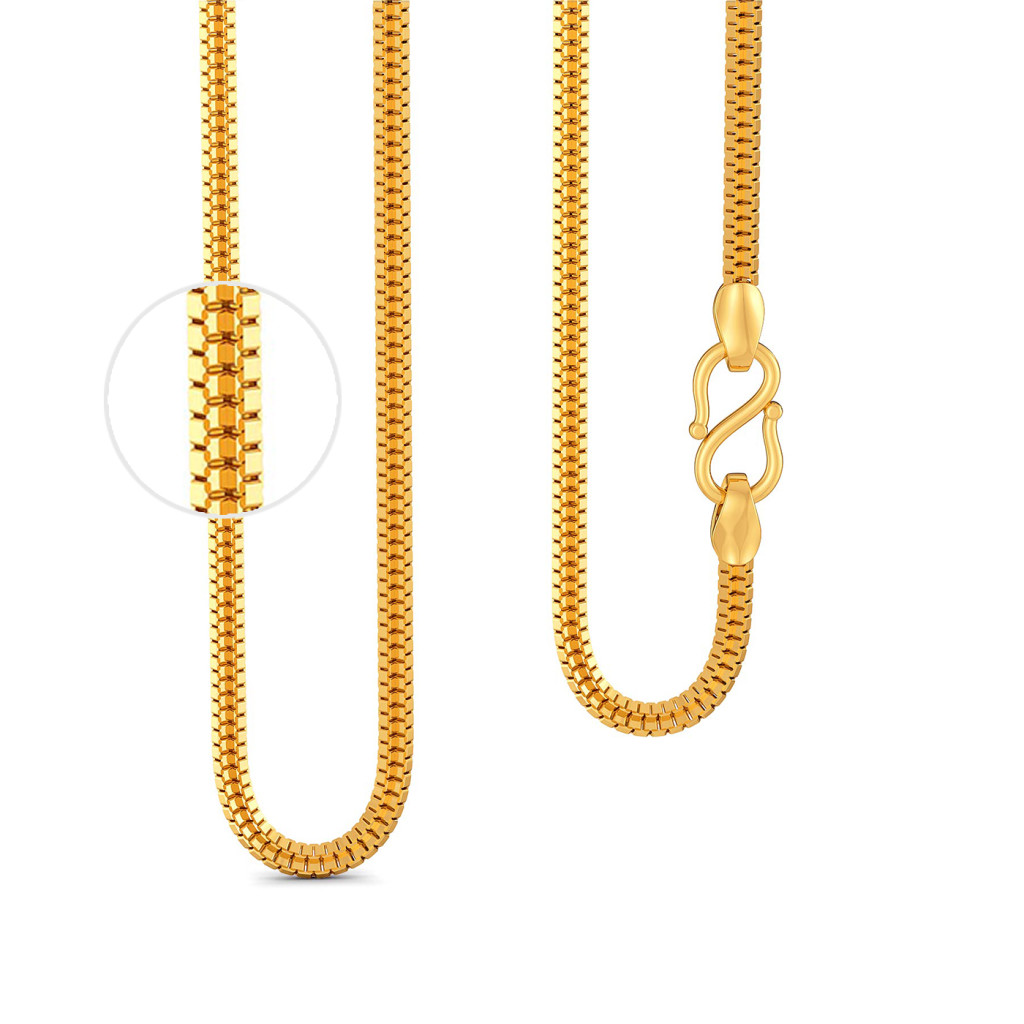 22kt Double Box chain Gold Chains