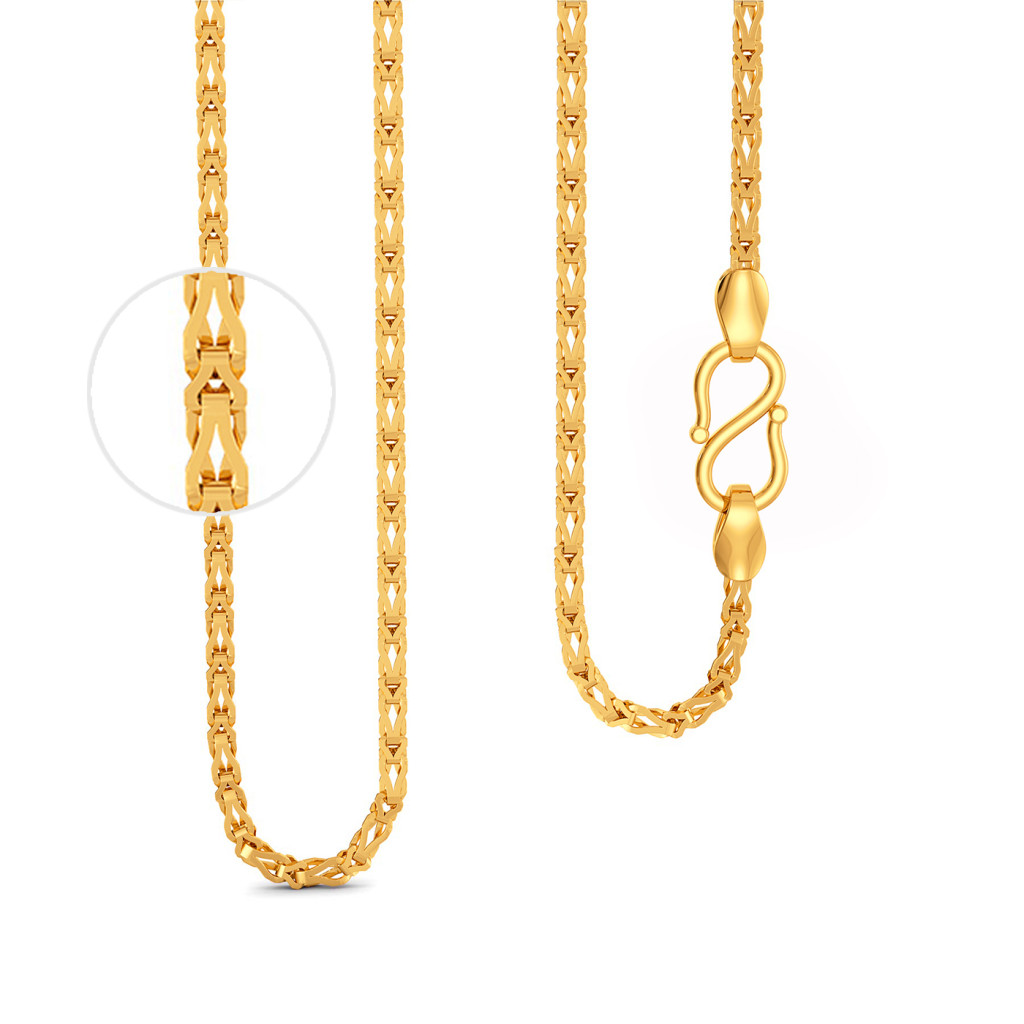 22kt Knitted Chain Gold Chains