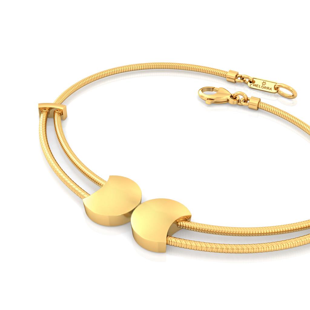 Fringesque Gold Bracelets