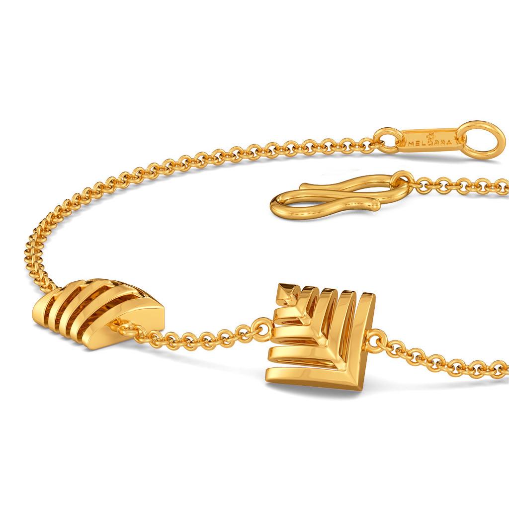 Skimpy Squares Gold Bracelets