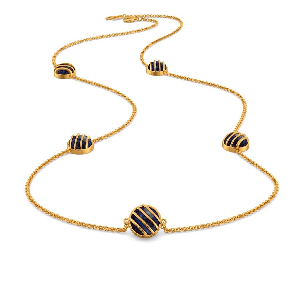 Dyed in Denim Gemstone Necklaces