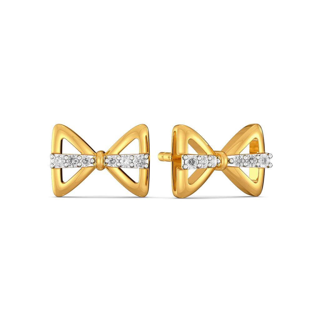 Bow Wrap Diamond Earrings