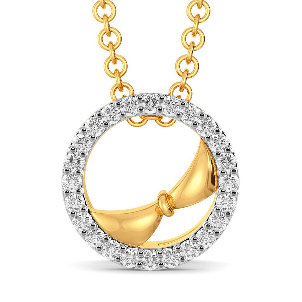 Bedazzled Bow Diamond Pendants