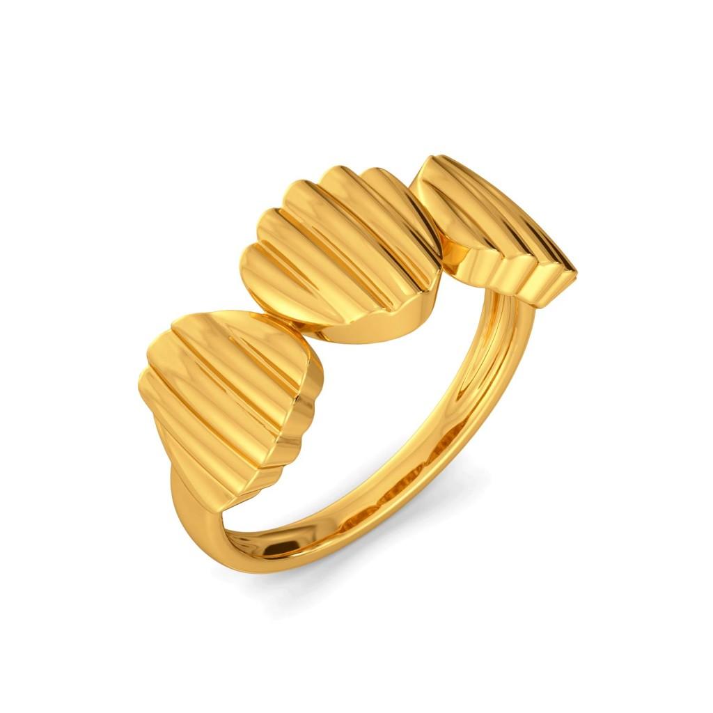 Clam Revamp Gold Rings