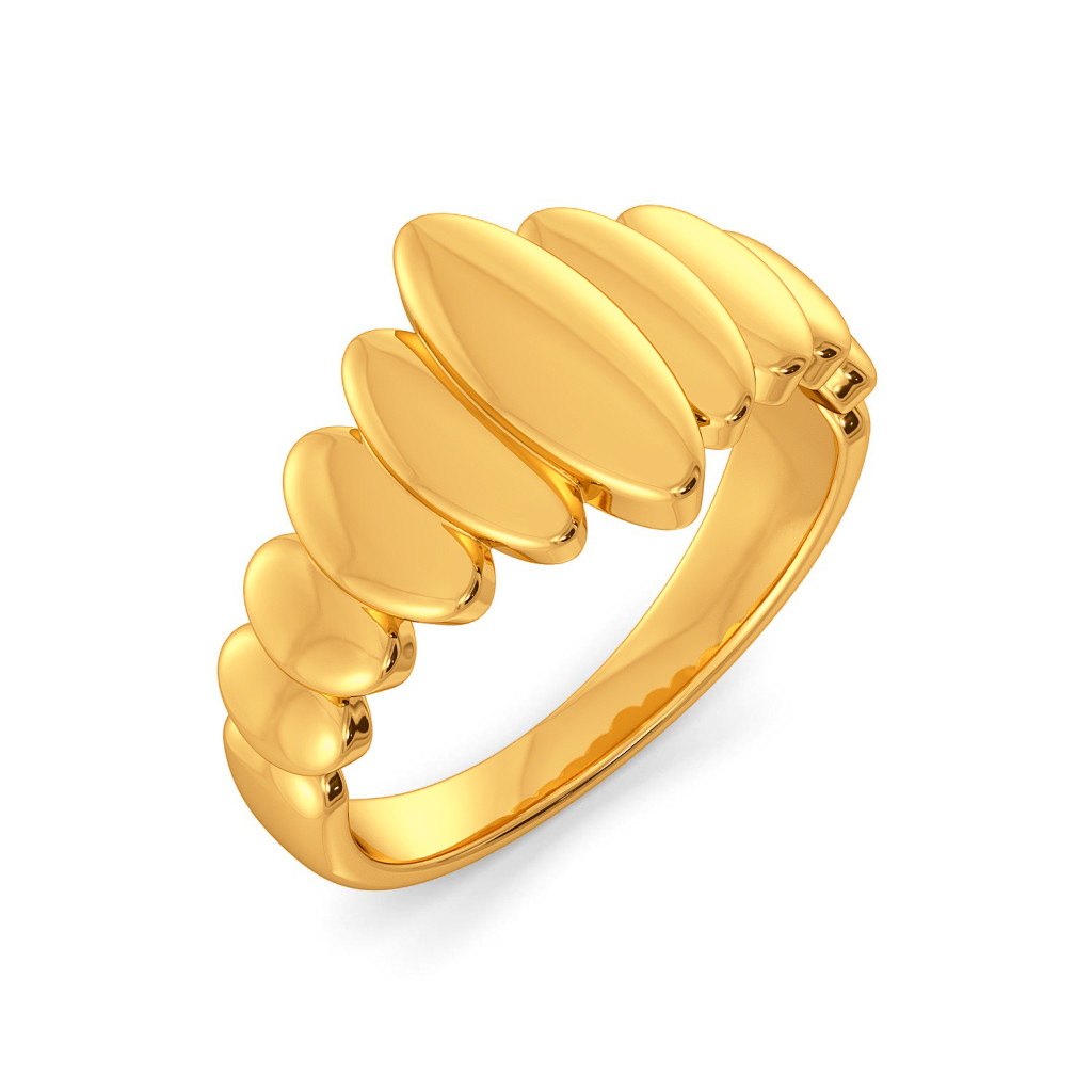 Pebble Fable Gold Rings