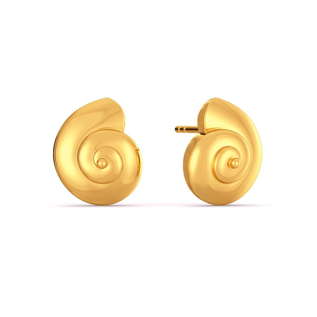 Shell Belle Gold Earrings