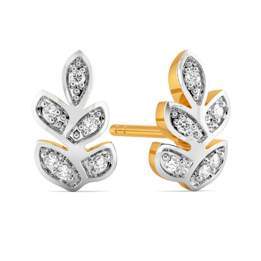 The Fern Coast Diamond Earrings