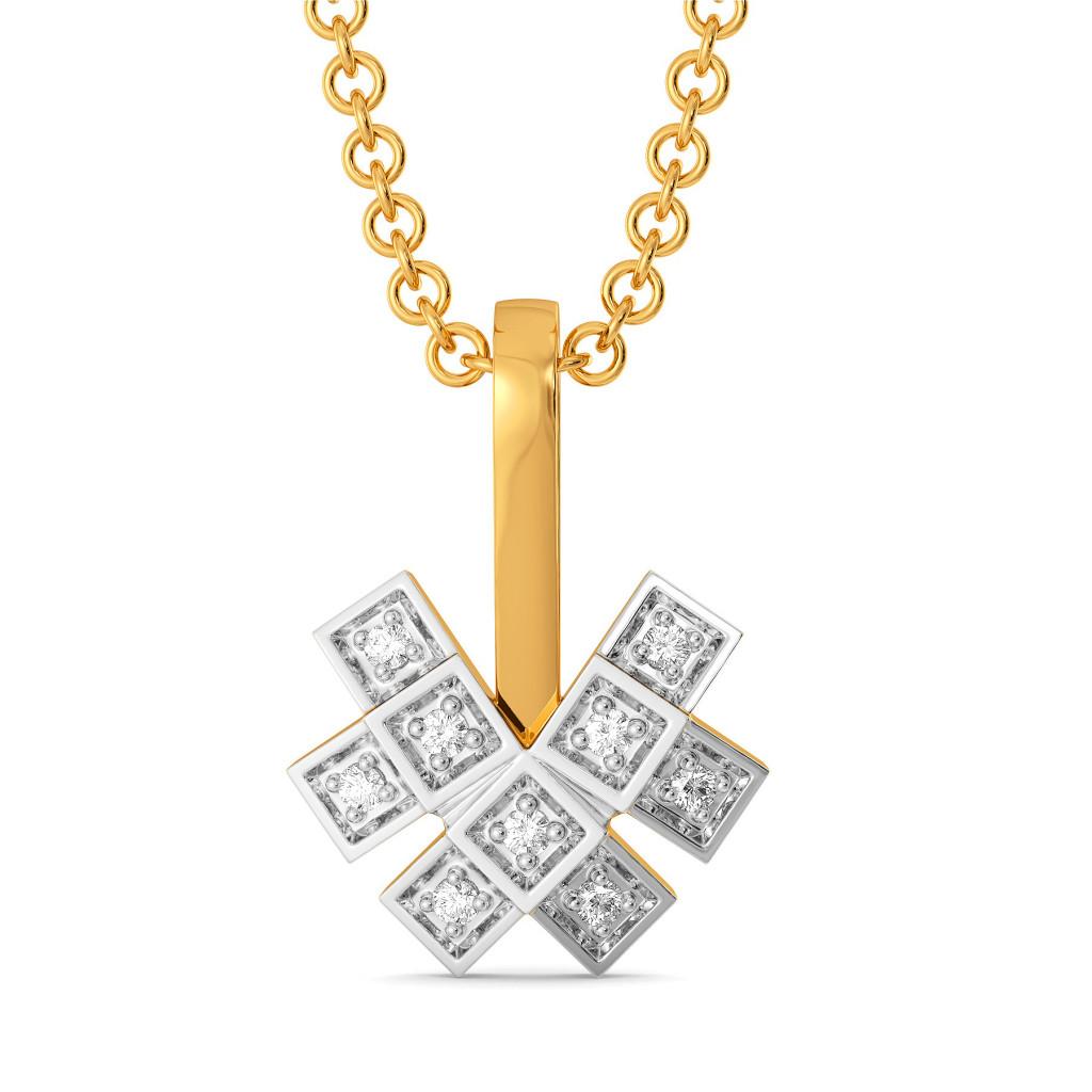 Plaid Ful Diamond Pendants