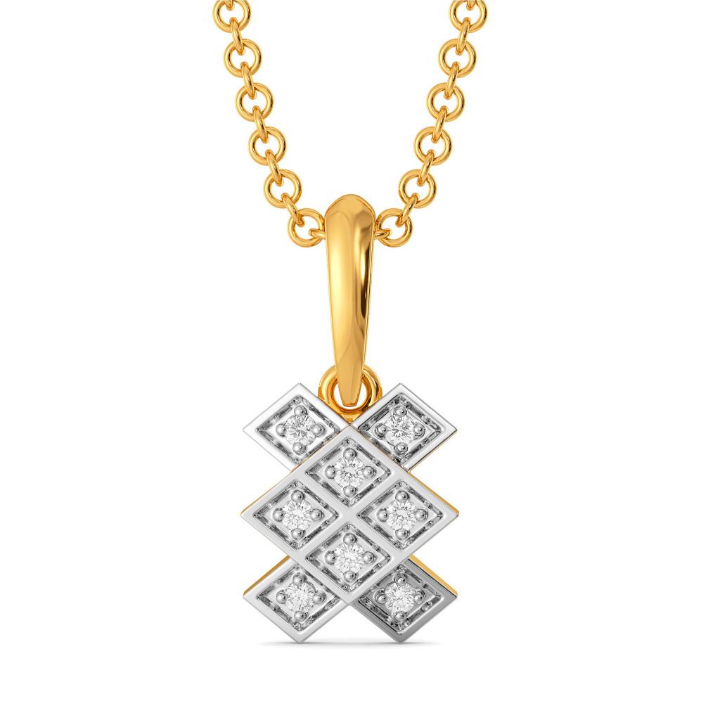 Plaid Perks Diamond Pendants
