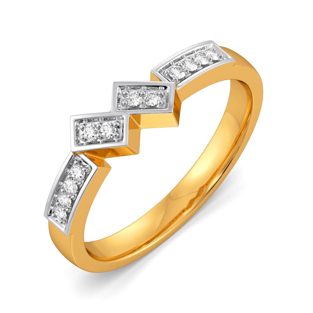 Plaid Parade Diamond Rings