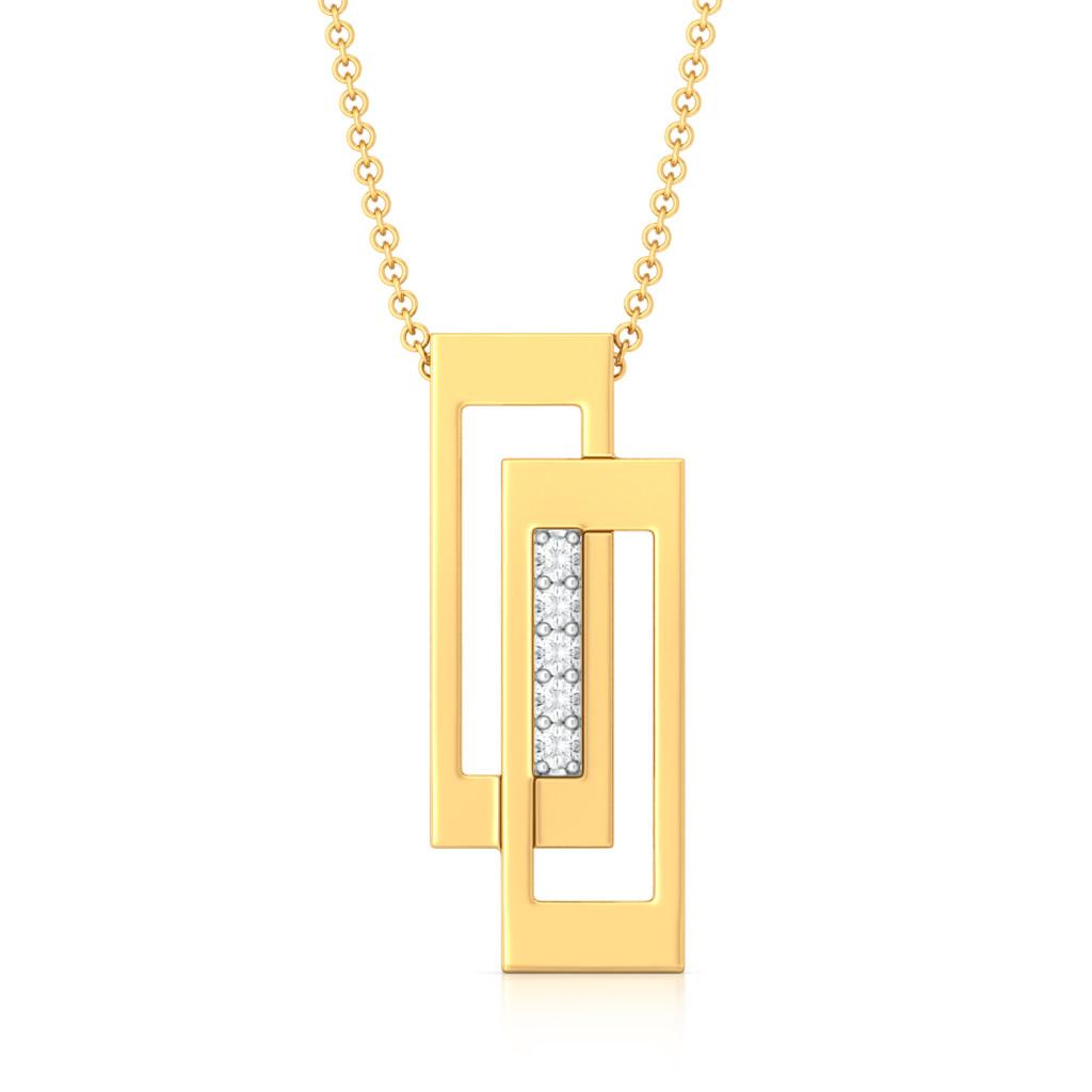 Double Edge Diamond Pendants