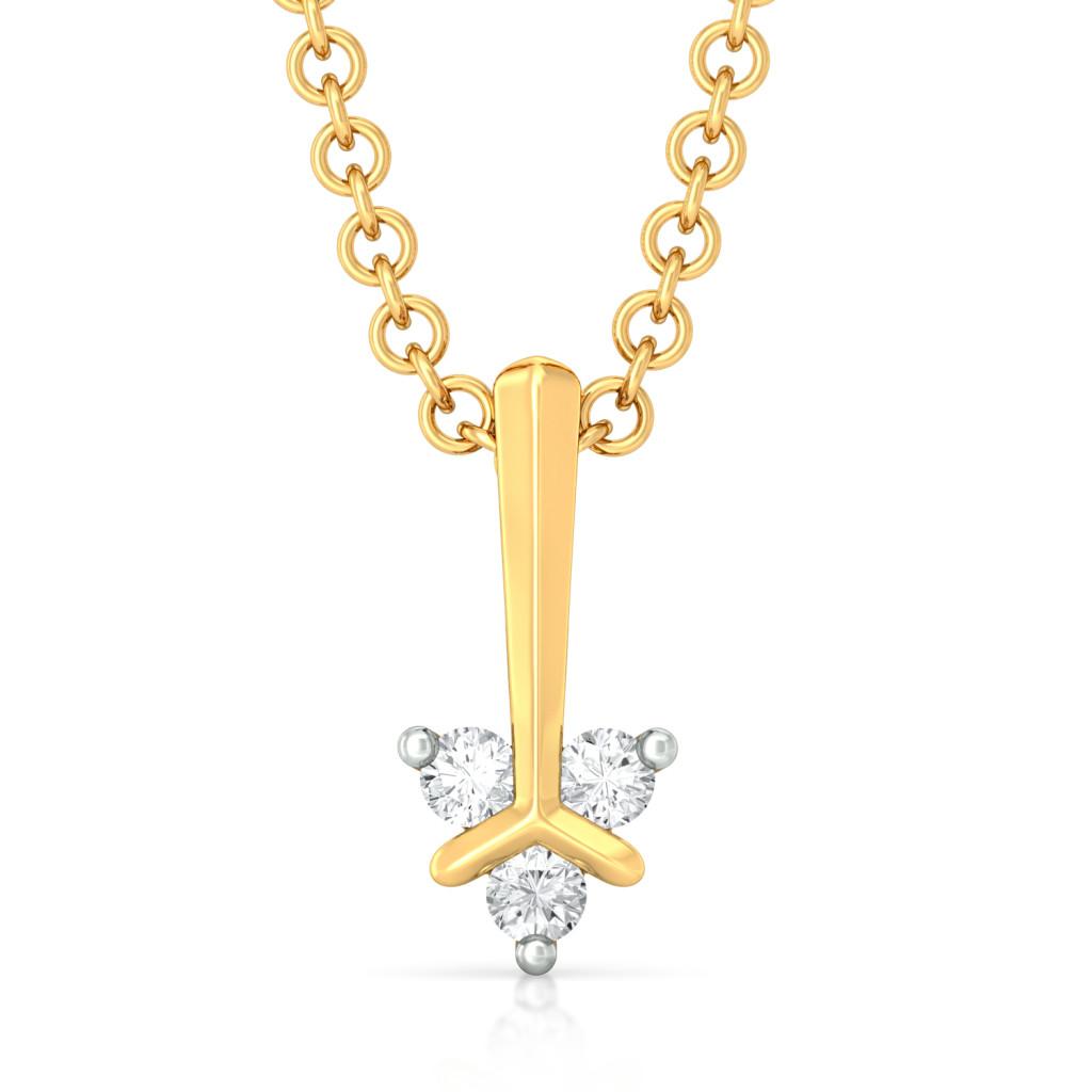 Teeny Troika Diamond Pendants