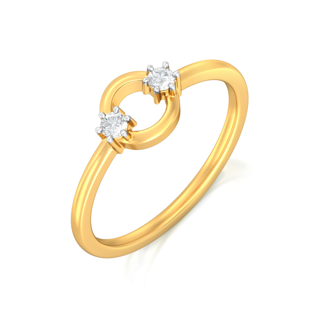 Hoop Whoop Diamond Rings