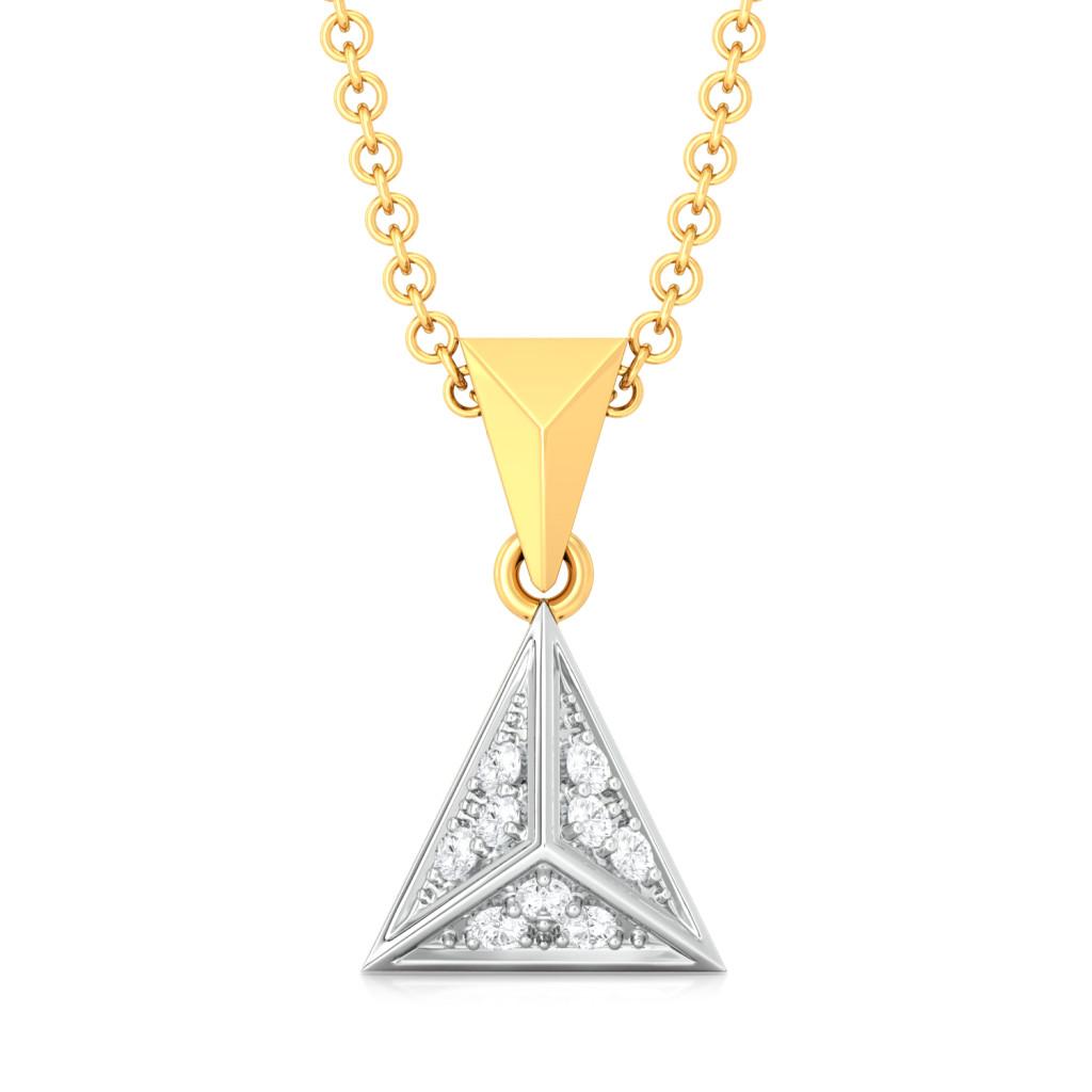 Spangle Triangle Diamond Pendants