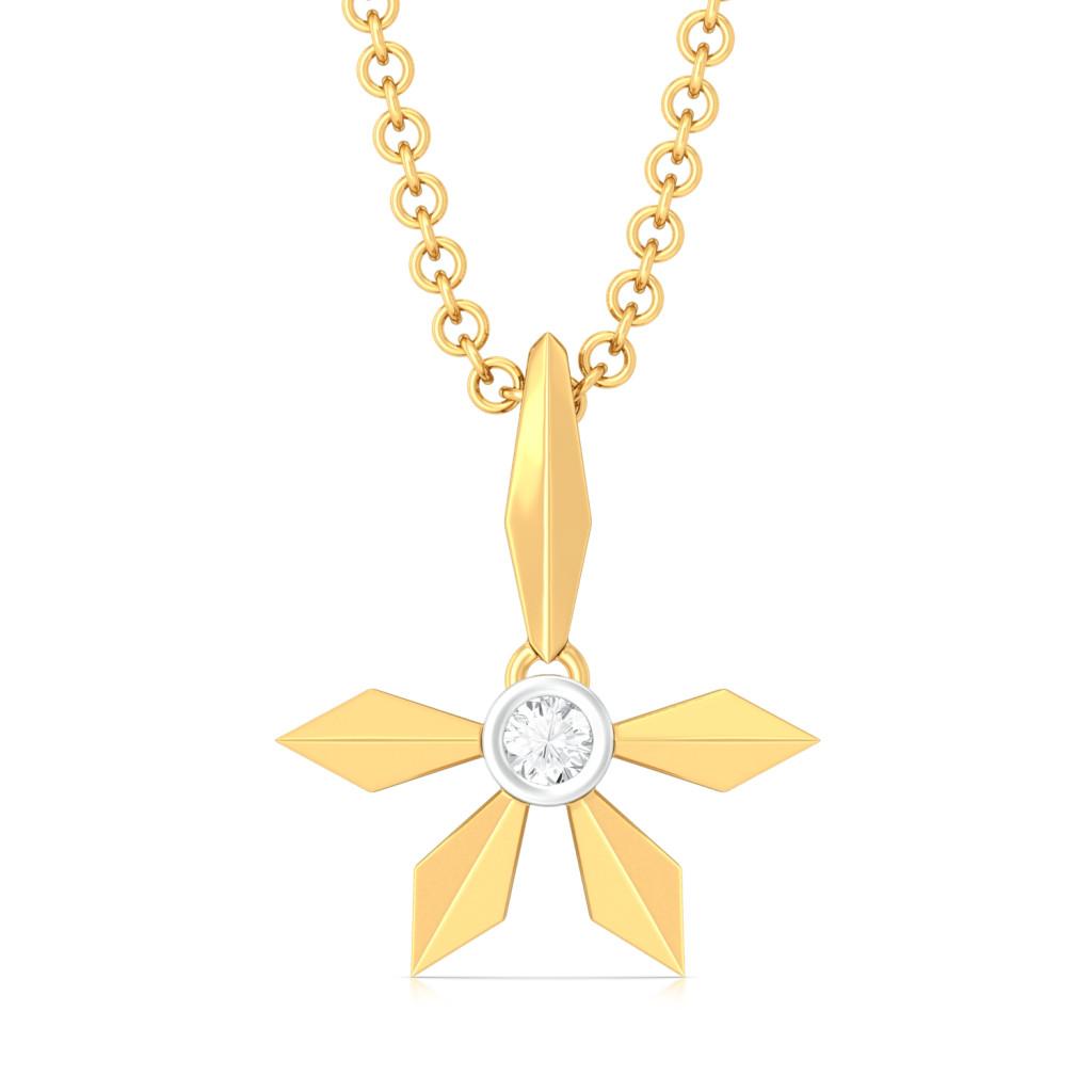 Simple Winkle Diamond Pendants