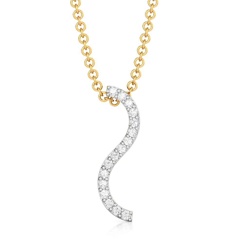 Cue The Dew  Diamond Pendants