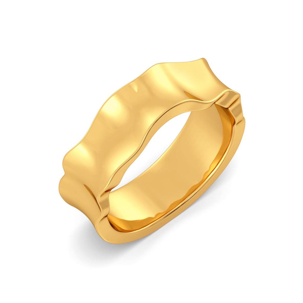 Rhyme N Ruffle Gold Rings