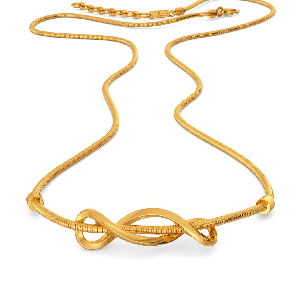 Flared Loops Gold Necklaces