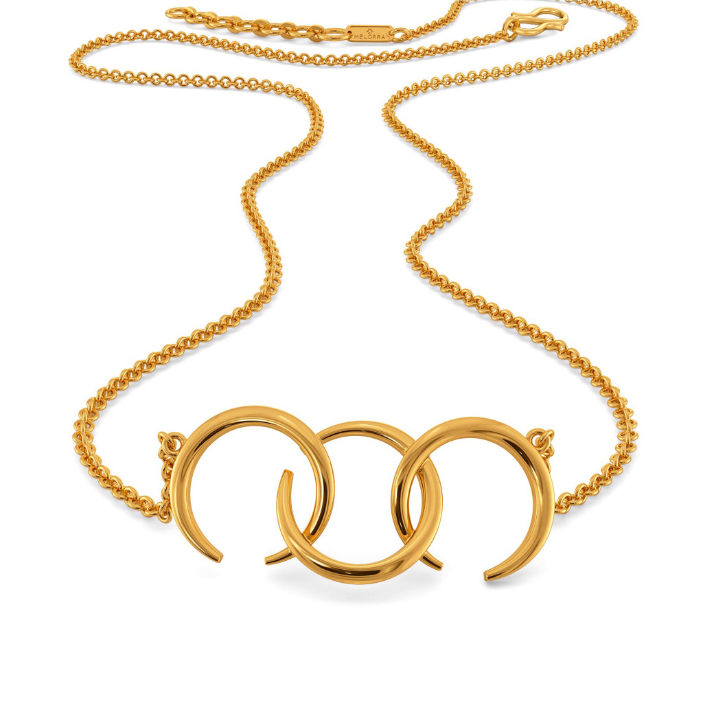 Whimsical Puffs Gold Necklaces