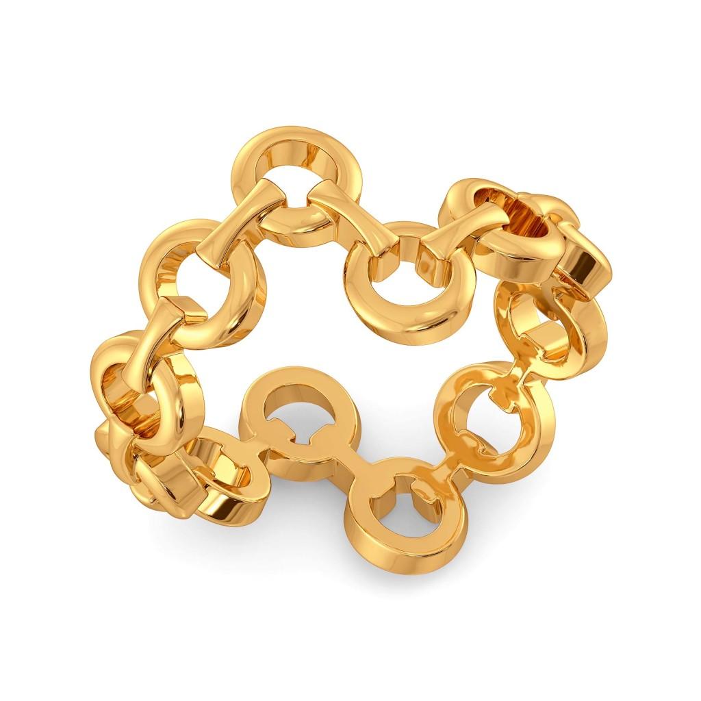 Mesh Matters Gold Rings