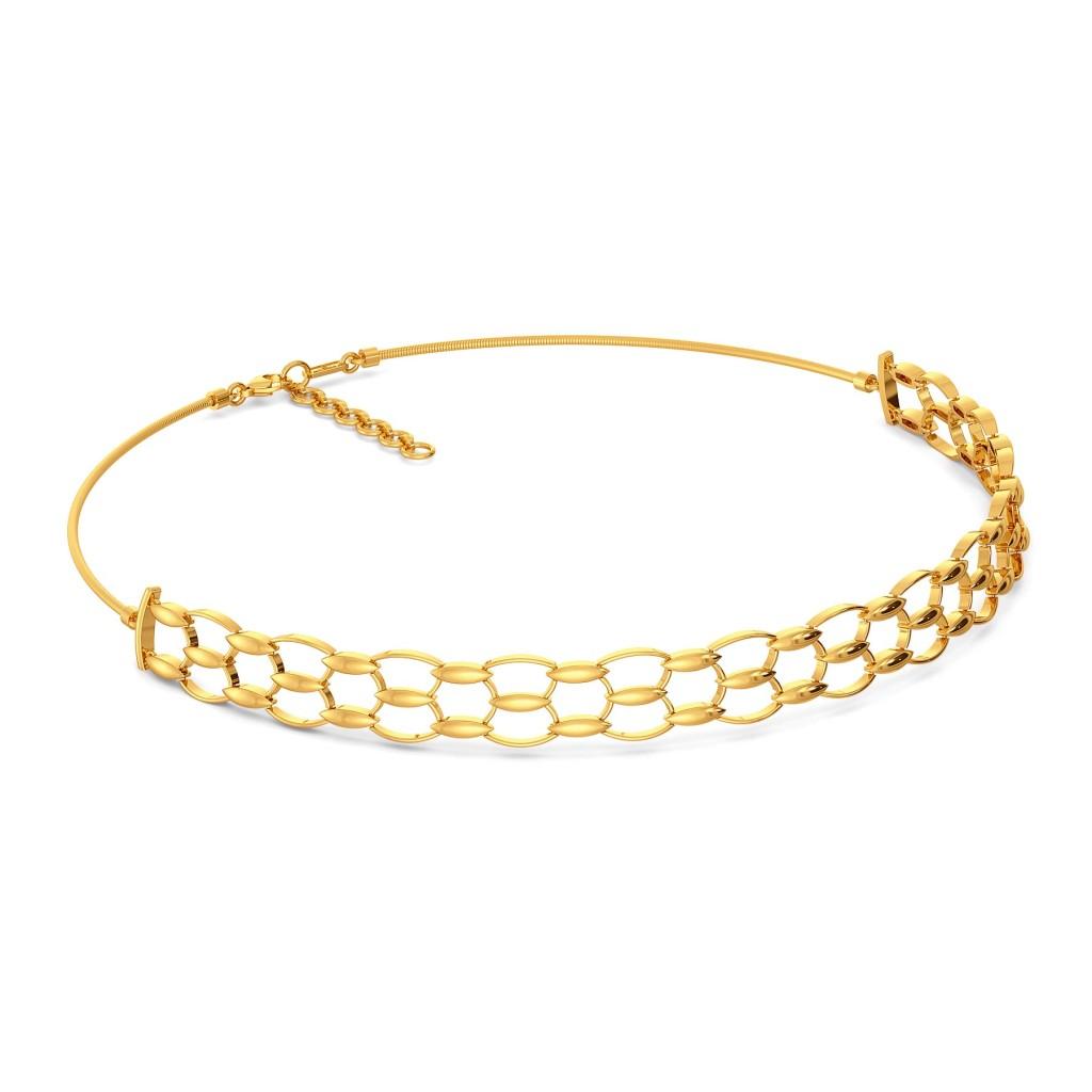 Mesh Maze Gold Necklaces