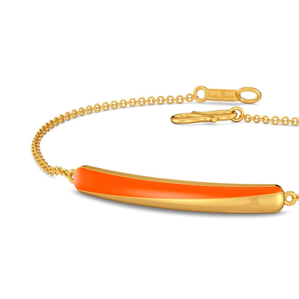Tangerine String Gold Bracelets