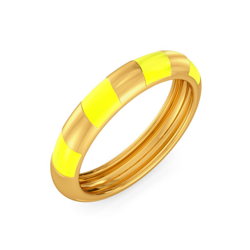 The Utter Butter Gold Rings