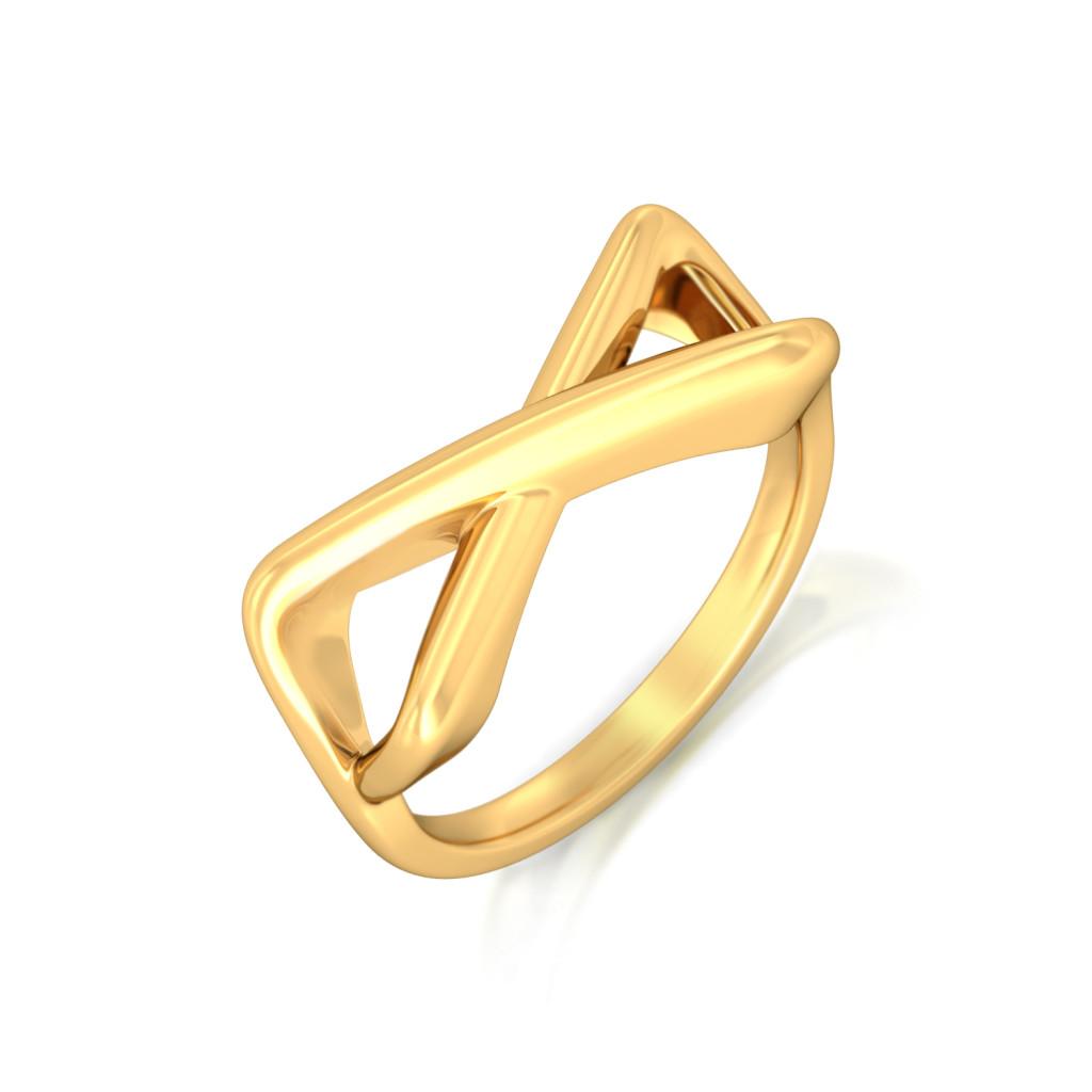 Fringe frenzy Gold Rings