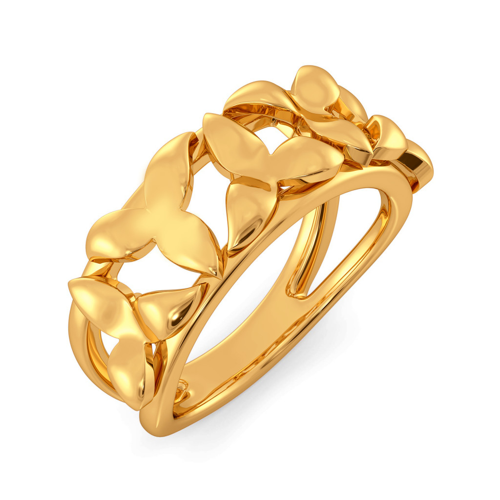 A Lily Link Gold Rings